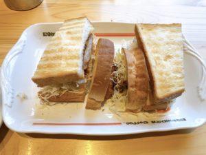【コメダ珈琲】宇地泊店で人気メニュー、シロノワールとカツサンドを食べてきました