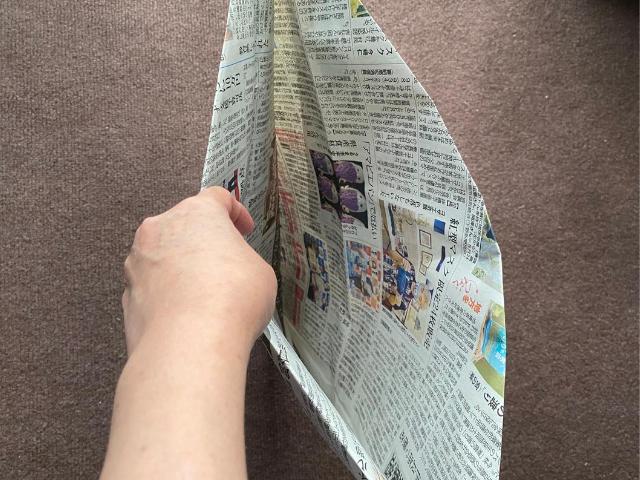 新聞紙でゴミ袋(ちょっと大きめ)の作り方教えま~す♪