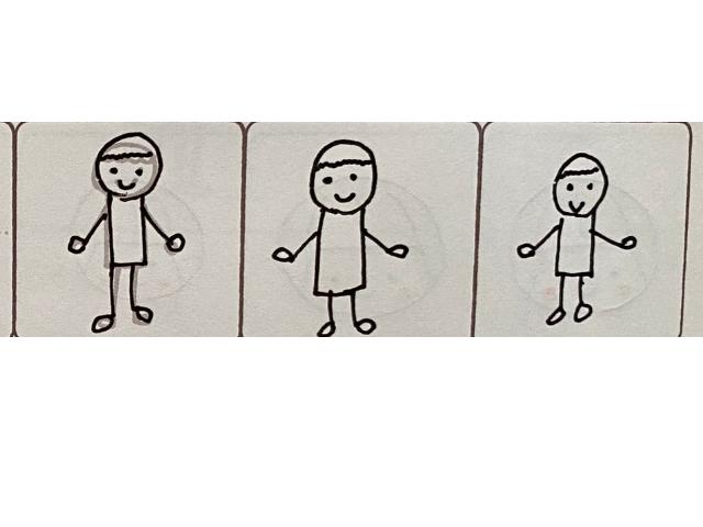 プチイラスト練習中!「動く棒人間」のイラストがかわいい♪