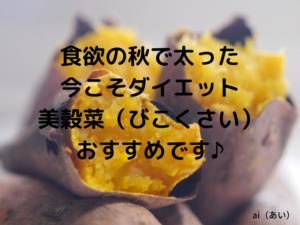 秋太りのダイエットにおすすめ♪置き換えダイエットの「美穀菜」良いです!
