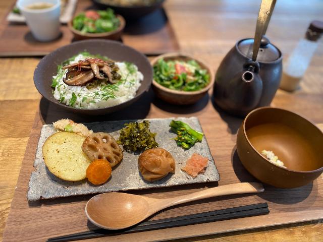 お茶づけカフェ【nodo】沖縄の北谷にあります!体に良さそう~(^o^)